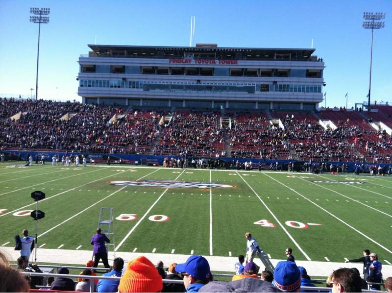 Seating view for Sam Boyd Stadium Section 107 Row 9 Seat 7