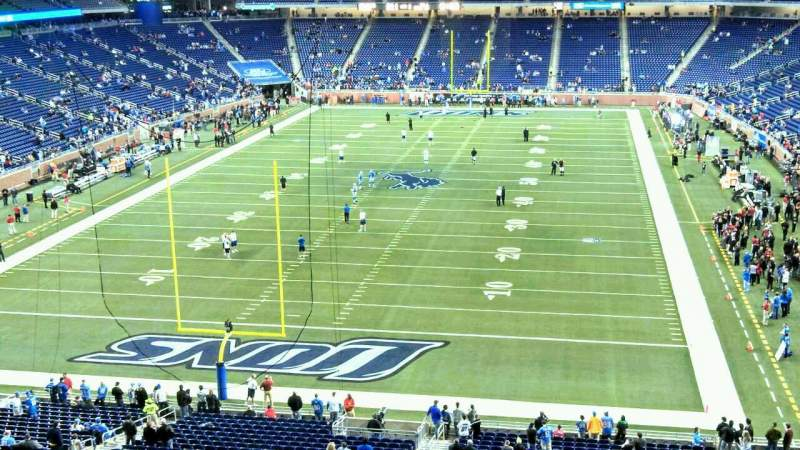 Seating view for Ford Field Section 319 Row 1 Seat 17