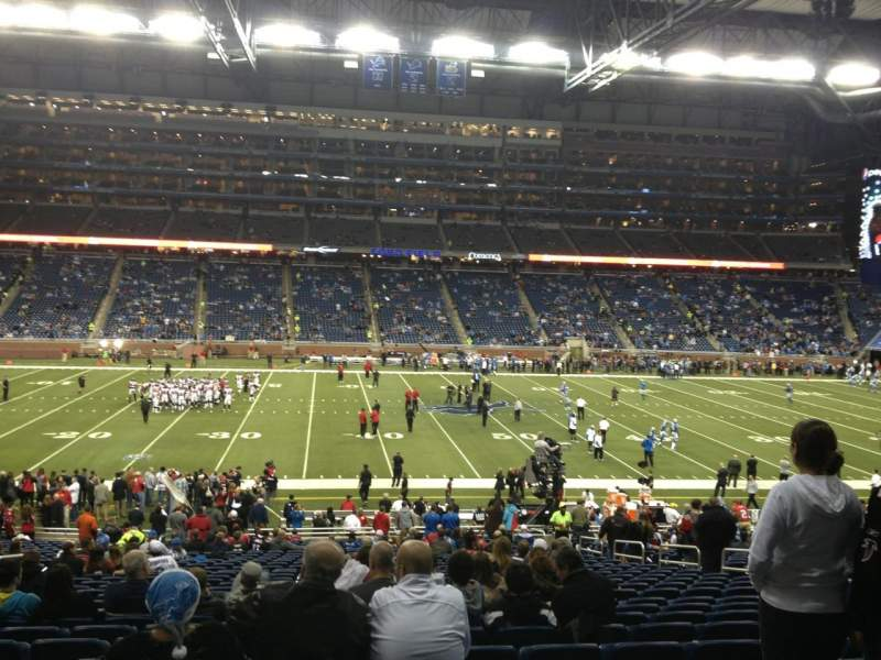Seating view for Ford Field Section 126 Row 32 Seat 11