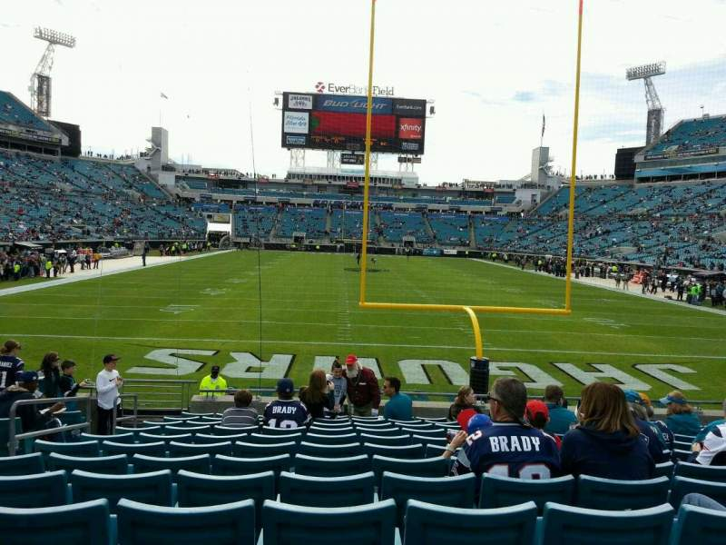 Seating view for EverBank Field Section 123 Row m Seat 20
