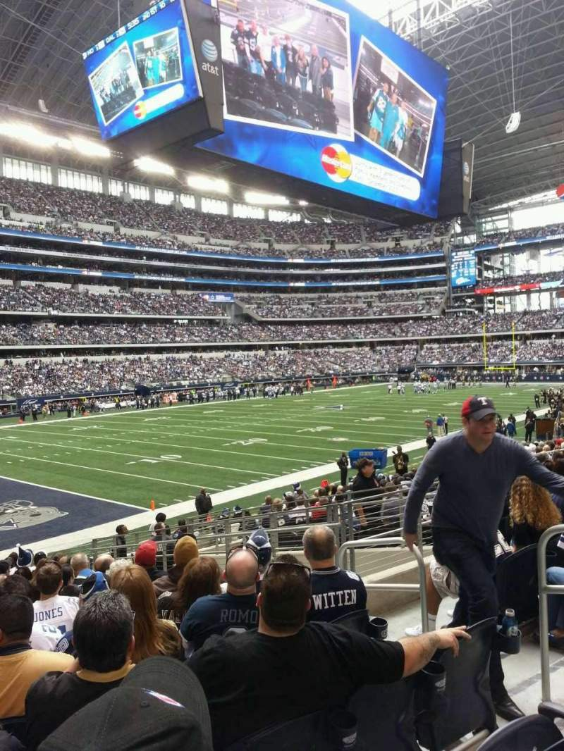 Seating view for AT&T Stadium Section 144 Row 18 Seat 6