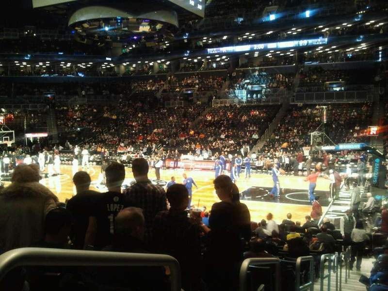 Seating view for Barclays Center Section 22 Row 15 Seat 8