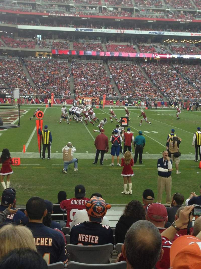 Seating view for University of Phoenix Stadium Section 113 Row 9 Seat 6