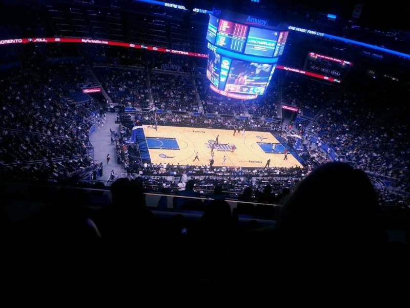 Seating view for Amway Center Section 211 Row 12 Seat 13