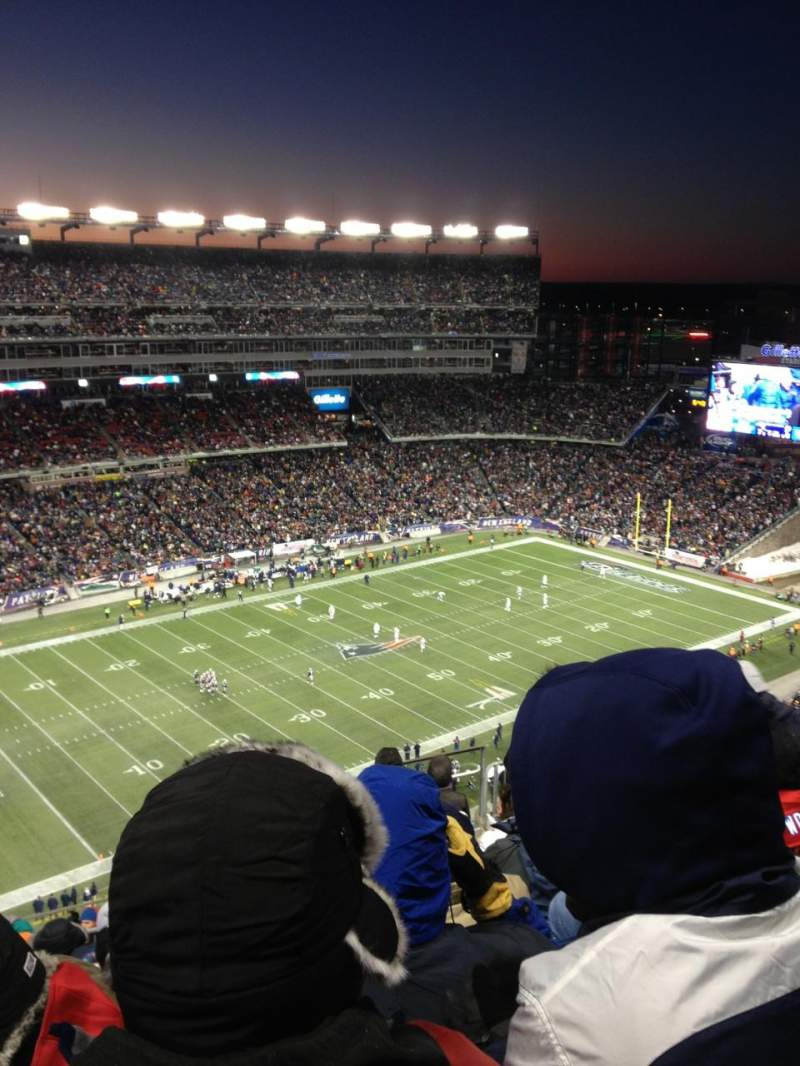 Seating view for Gillette Stadium Section 315 Row 16 Seat 9