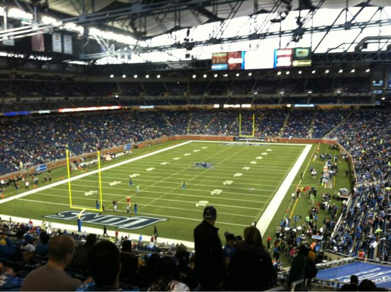 Seating view for Ford Field Section 246 Row 4 Seat 10