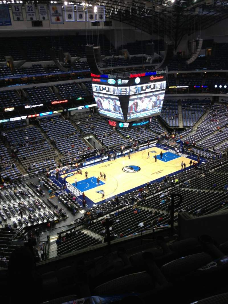 Seating view for American Airlines Center Section 313 Row J Seat 12