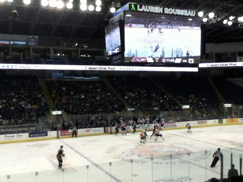 Seating view for Webster Bank Arena Section 107