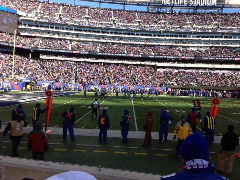 Seating view for MetLife Stadium Section 142 Row 3 Seat 21