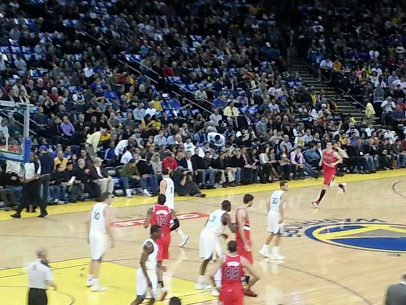 Seating view for Oracle Arena Section 105 Row 17  Seat 9