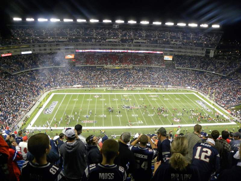 Seating view for Gillette Stadium Section 311 Row 21 Seat 7/8