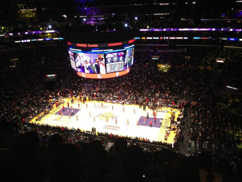 Seating view for Staples Center Section 316 Row 9 Seat 16