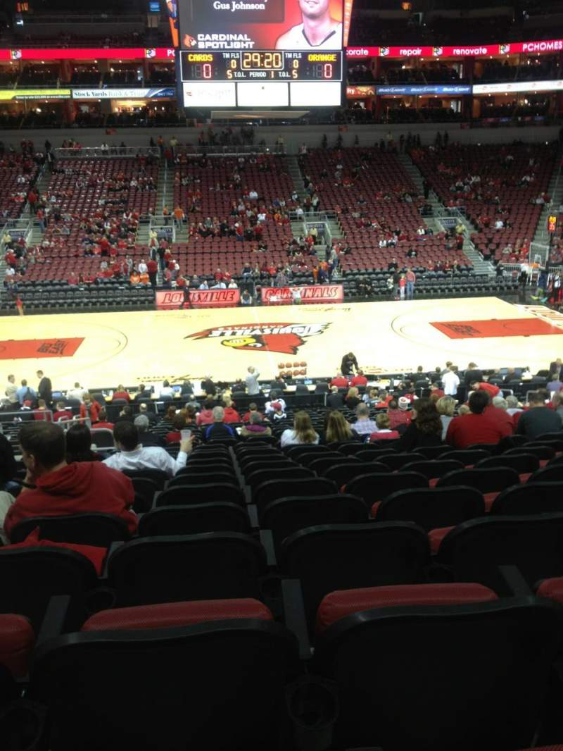 Seating view for KFC Yum! Center Section 116 Row AA Seat 14