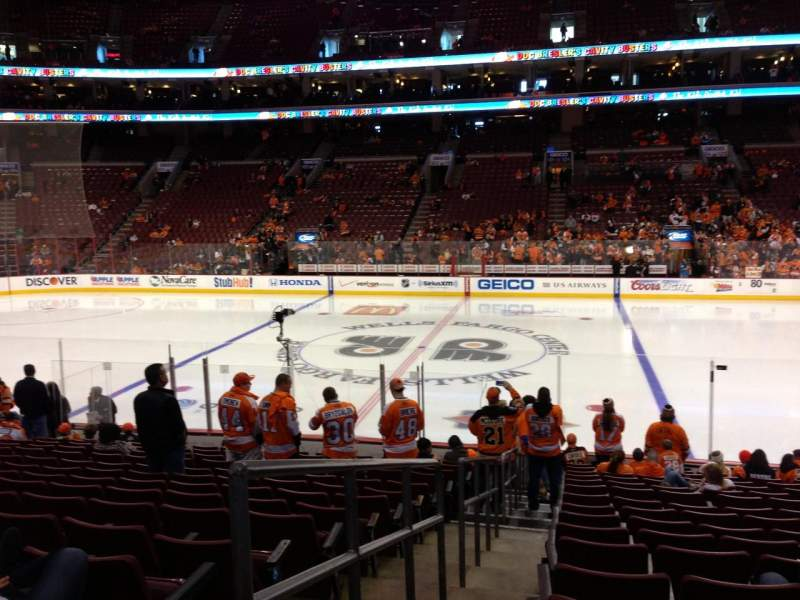 Seating view for Wells Fargo Center Section 114 Row 16 Seat 1