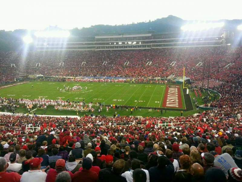 Seating view for Rose Bowl Section 7 Row 77 Seat 22