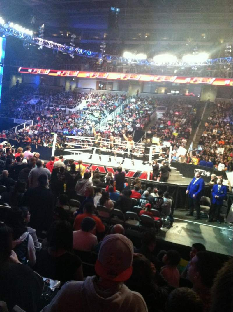 Sap Center Section 114 Row 7 Seat 19 Monday Night Raw