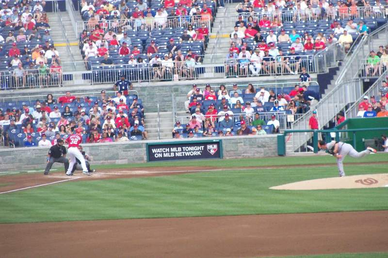 Seating view for Nationals Park Section 140 Row H Seat 12