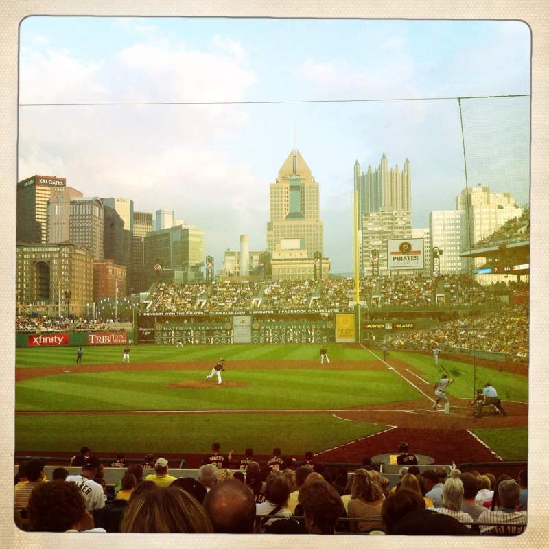 Seating view for PNC Park Section 120 Row F Seat 8