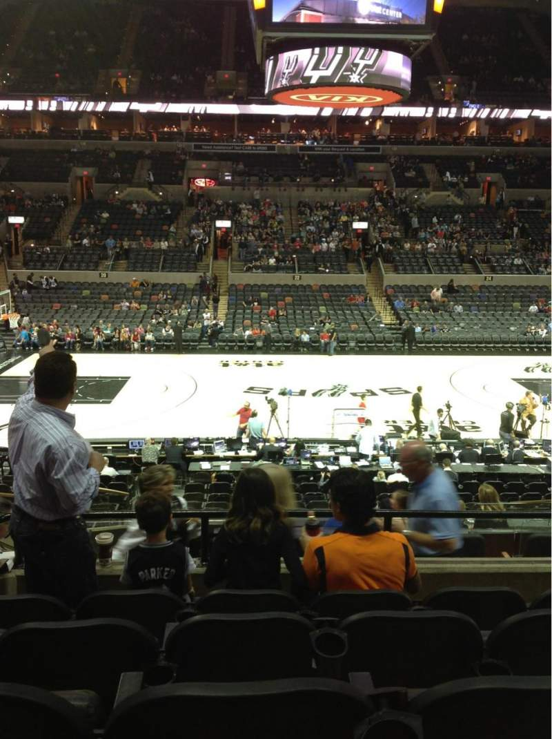 Seating view for AT&T Center Section 108 Row 24 Seat 6