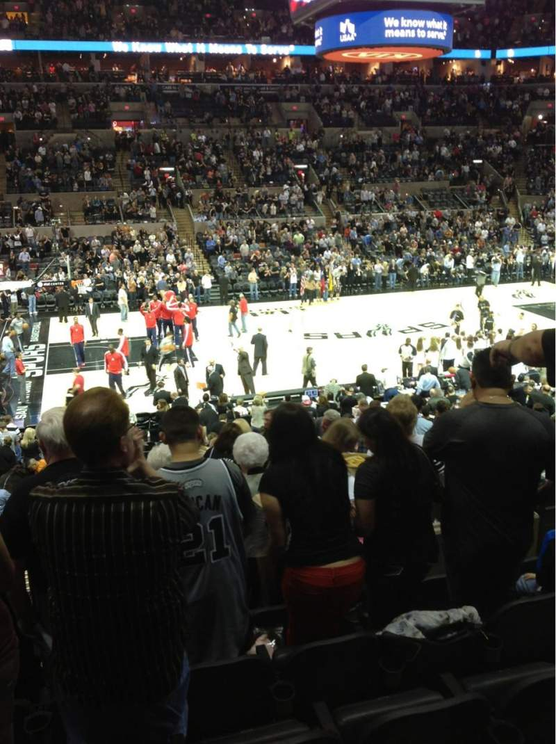 Seating view for AT&T Center Section 109 Row 25 Seat 8
