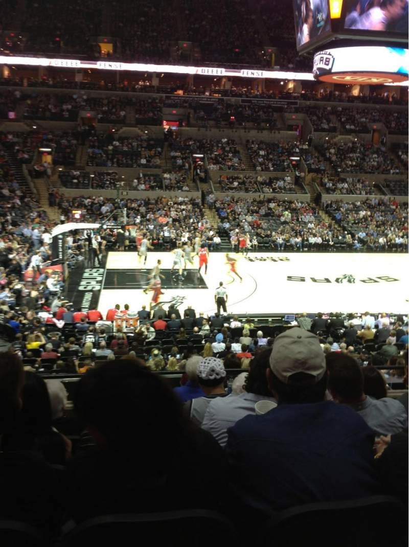 AT&T Center, section: 109, row: 25, seat: 8