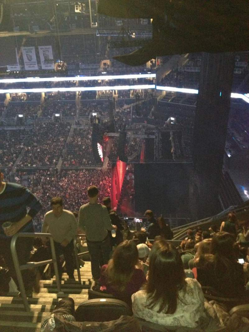 Seating view for Barclays Center Section 205 Row 15 Seat 25