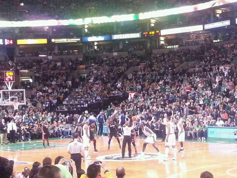 Seating view for TD Garden Section Loge 10 Row 5 Seat 5