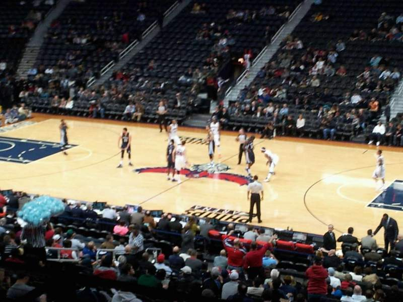 Seating view for Philips Arena Section 210 Row B Seat 12