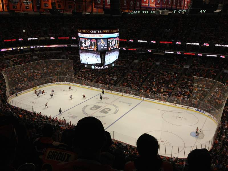 Seating view for Wells Fargo Center Section 204 Row 15 Seat 13