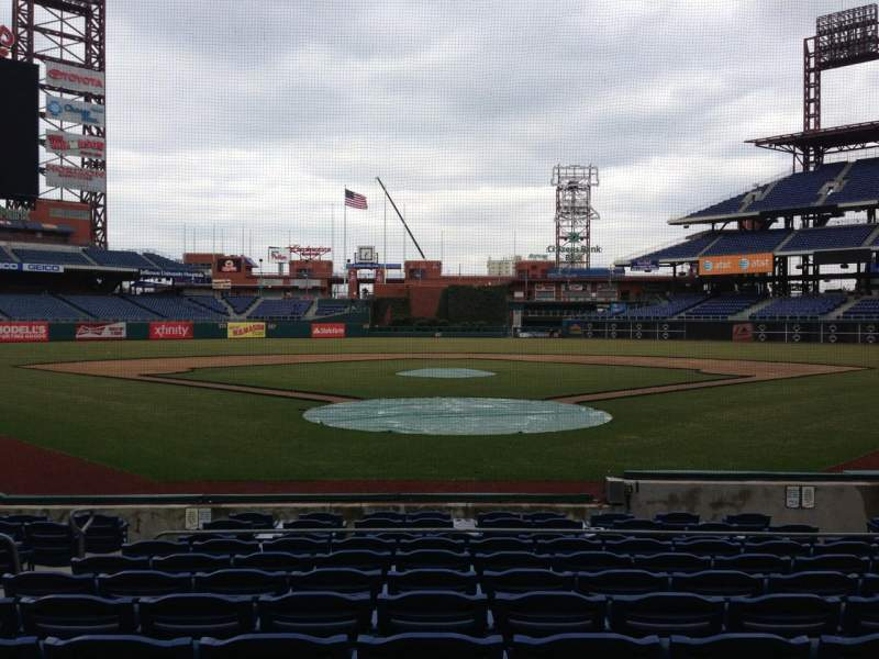Seating view for Citizens Bank Park Section D Row 13 Seat 8