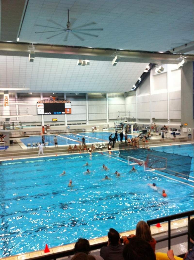 Seating view for Jamail Texas Swimming CenterRow 5 Seat 25