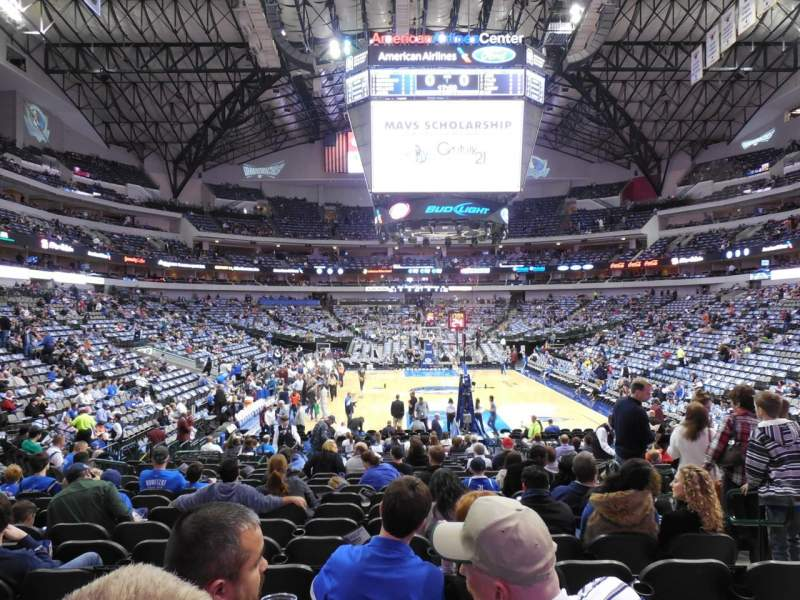 Seating view for American Airlines Center Section 113 Row N Seat 4
