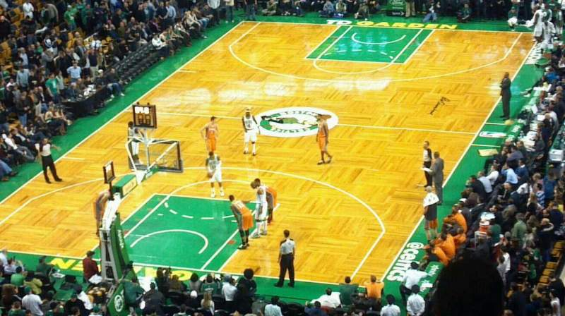 Seating view for TD Garden Section Bal 307 Row 9