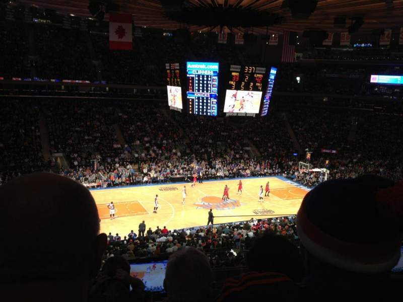 Seating view for Madison Square Garden Section 209 Row 4 Seat 14 and 15