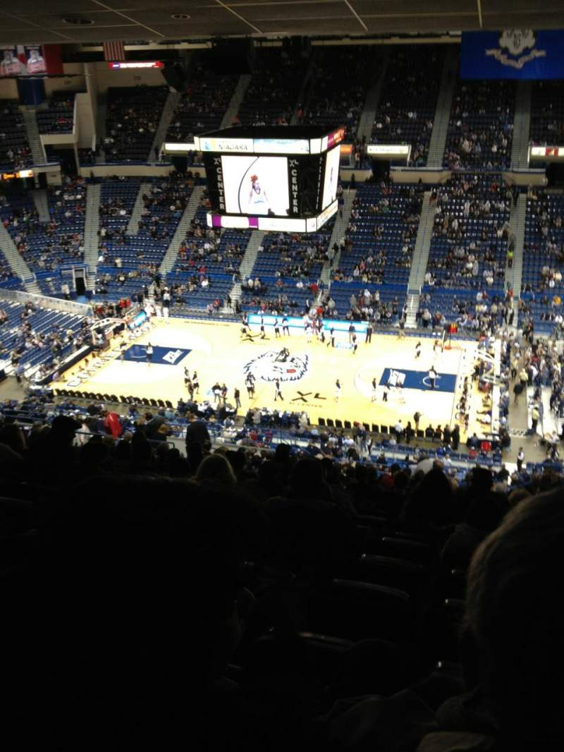 Seating view for XL Center Section 202 Row AA Seat 3