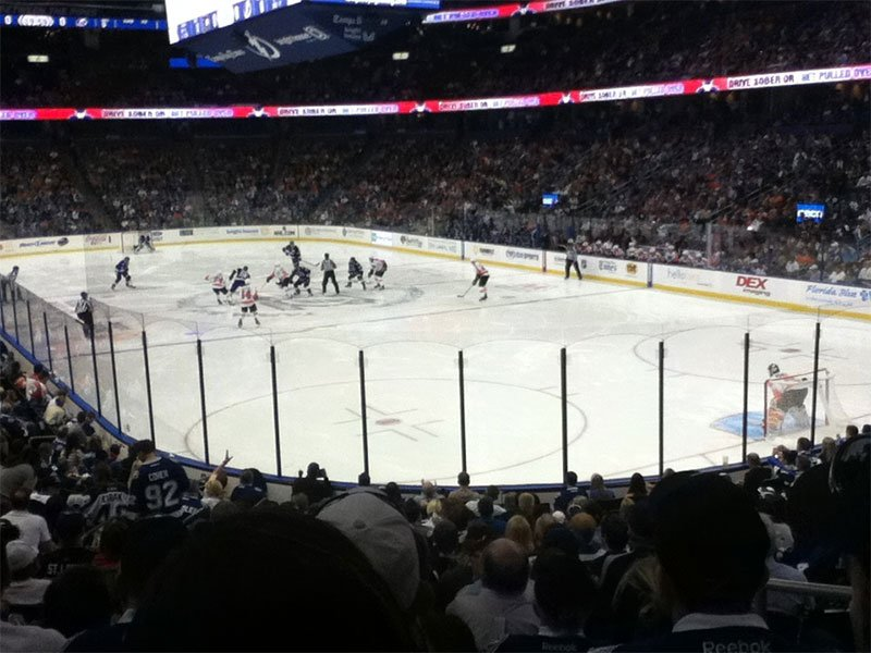 Seating view for Amalie Arena Section 110 Row V Seat 17
