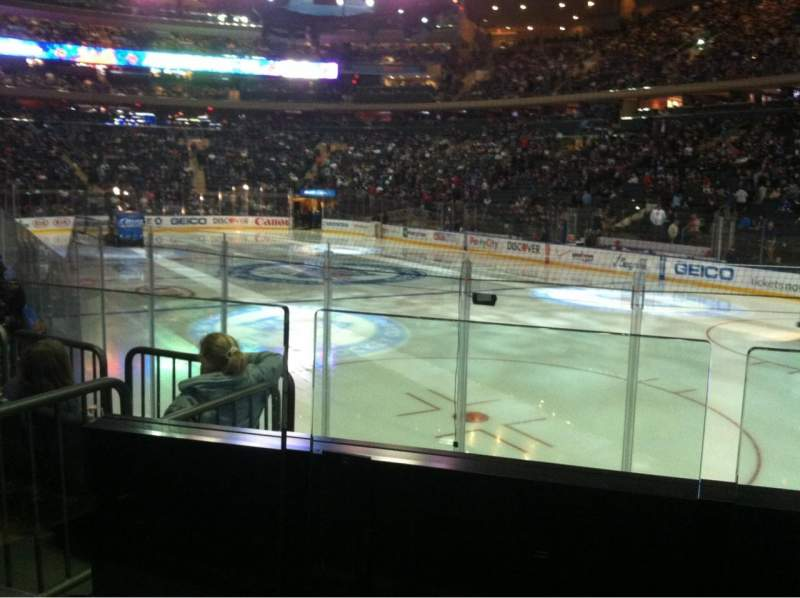 Seating view for Madison Square Garden Section 120 Row 7 Seat 12