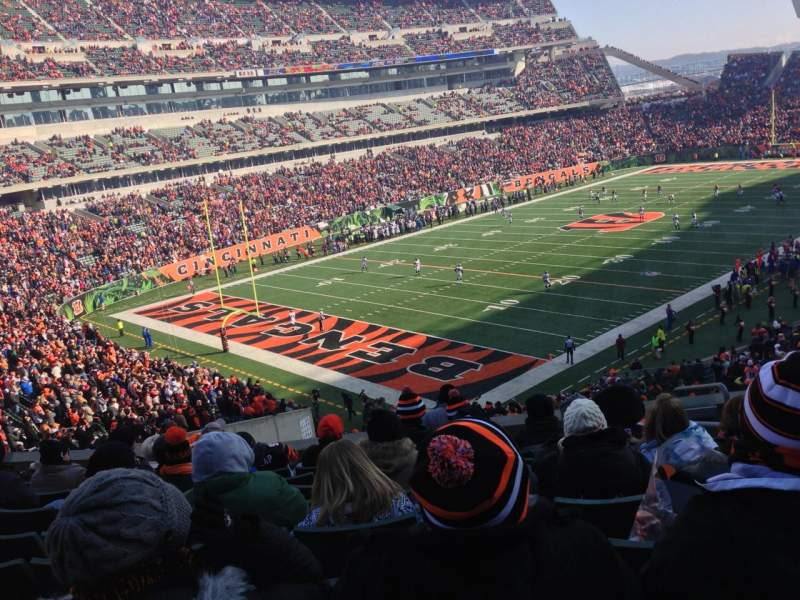 Seating view for Paul Brown Stadium Section 219 Row 9 Seat 4