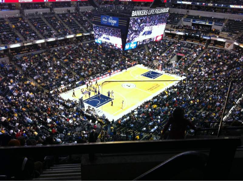 Seating view for Bankers Life Fieldhouse Section 229 Row 8 Seat 1
