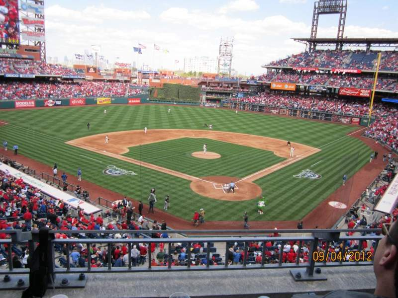 Seating view for Citizens Bank Park Section 223 Row 2 Seat 7