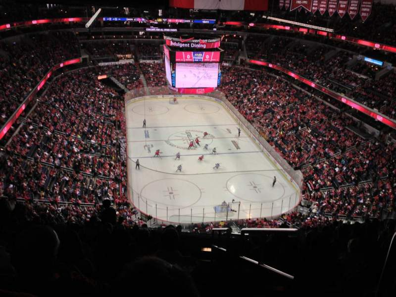 Seating view for Capital One Arena Section 407 Row P Seat 22