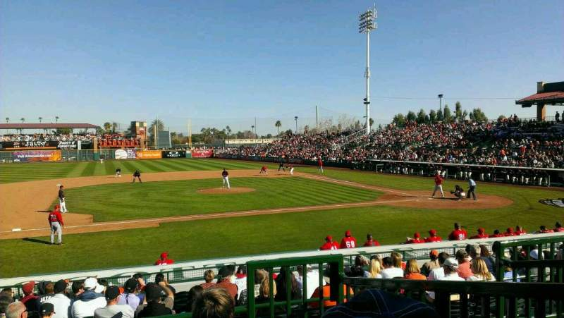 Seating view for Scottsdale Stadium Section 209 Row M Seat 2