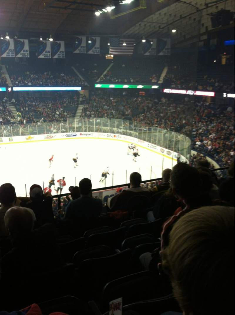Seating view for Allstate Arena Section 202 Row F Seat 19