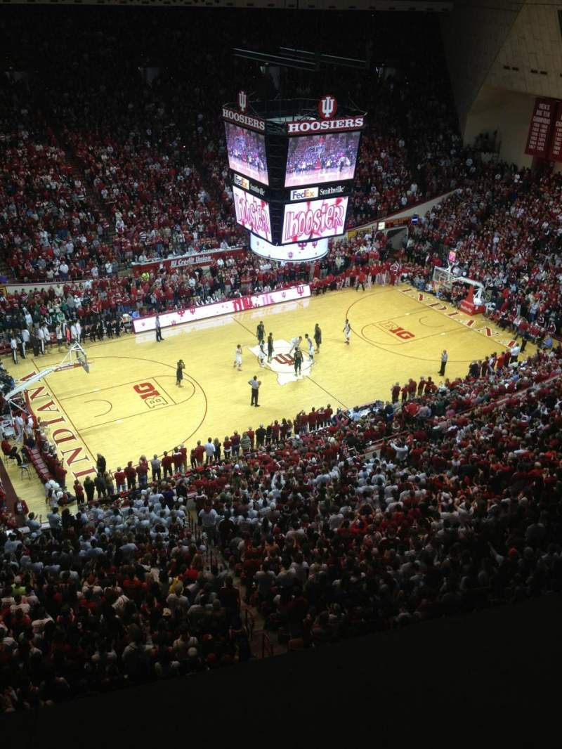 Seating view for Assembly Hall (Bloomington) Section Kk Row 1 Seat 9