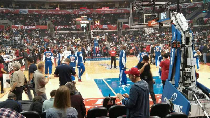 Seating view for Staples Center Section 116 Row G Seat 6