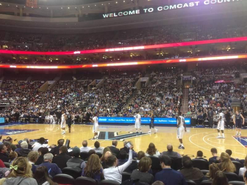 Wells Fargo Center, section: 114, row: 5, seat: 2