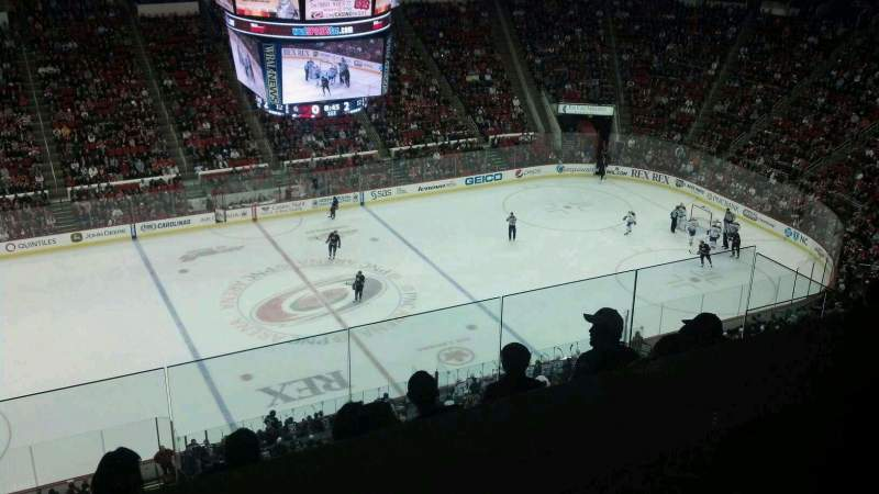 Seating view for PNC Arena Section 305 Row G Seat 18