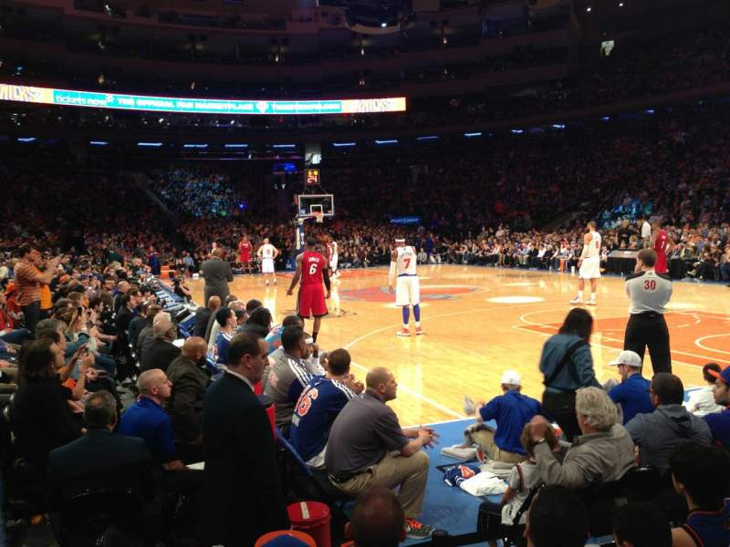 Seating view for Madison Square Garden Section 7 Row 3 Seat 1