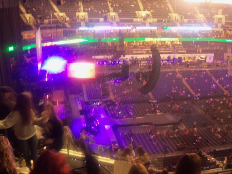 Seating view for Spectrum Center Section 211 Row N Seat 15