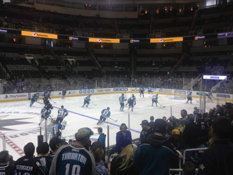 Seating view for SAP Center at San Jose Section 101 Row 9 Seat 17